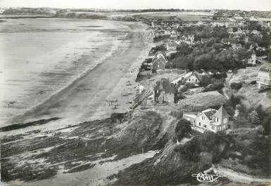 """/ CPSM FRANCE 50 """"Saint Pair sur Mer, les rochers Saint Gaud et la plage"""""""