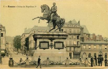 """CPA FRANCE 76 """"Rouen, Statue de Napoléon Ier"""""""