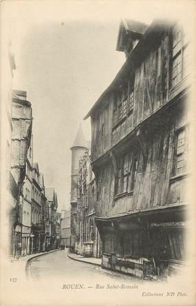 """CPA FRANCE 76 """"Rouen, Rue Saint Romain"""""""