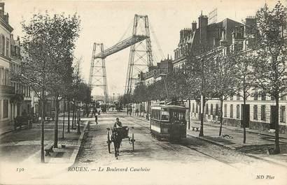 "CPA FRANCE 76 ""Rouen, le Bld Cauchoise"""