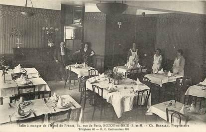 """CPA FRANCE 77 """"Rozoy en Brie, Hotel de France"""""""