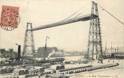 """CPA FRANCE 76 """"Rouen, le pont transbordeur"""""""