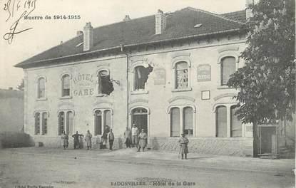 """/ CPA FRANCE 54 """"Badonviller, hôtel de la gare"""""""