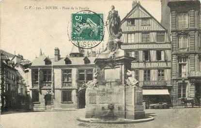 """CPA FRANCE 76 """"Rouen, la place de la Pucelle"""""""