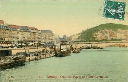 "CPA FRANCE 76 ""Rouen, Quai de Paris"""