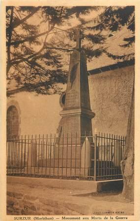 """CPA FRANCE 56 """"Surzur, monument aux morts"""""""