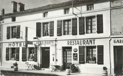"""/ CPSM FRANCE 16 """"Le Pontouvre, hôtel de la poste"""""""