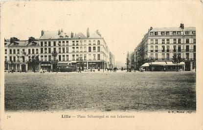 """CPA FRANCE 59 """"Lille, la place Sébastopol et rue Inkermann"""""""