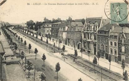 """CPA FRANCE 59 """"Lille, le nouveau boulevard reliant les trois villes"""""""