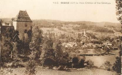 """/ CPA FRANCE 46 """"Cazals, le vieux château"""""""