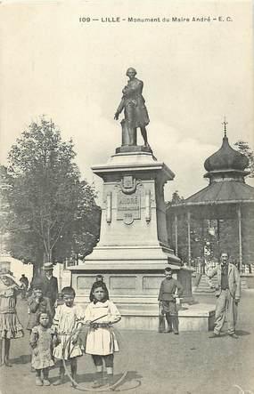 """CPA FRANCE 59 """"Lille, monument du Maire André"""""""