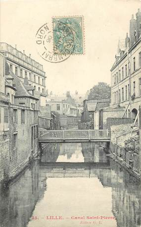 """CPA FRANCE 59 """"Lille, canal Saint Pierre"""""""