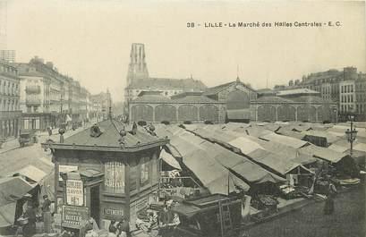 """CPA FRANCE 59 """"Lille, le marché des halles centrales"""""""