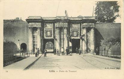 """CPA FRANCE 59 """"Lille, La Porte de Tournai"""""""