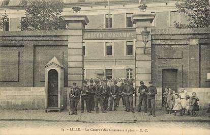 """CPA FRANCE 59 """"Lille, La caserne des chasseurs à pied"""""""
