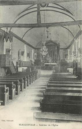 """/ CPA FRANCE 76 """"Blacqueville, intérieur de l'église"""""""
