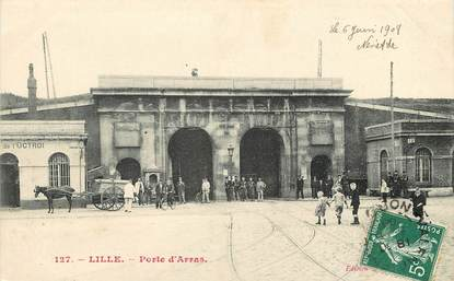 """CPA FRANCE 59 """"Lille, La porte d'Arras"""""""