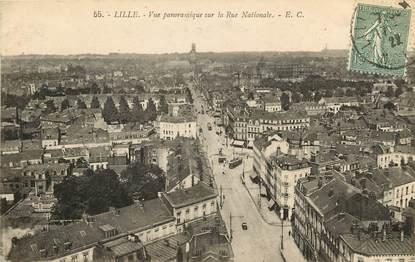"CPA FRANCE 59 ""Lille, La rue Nationale"""