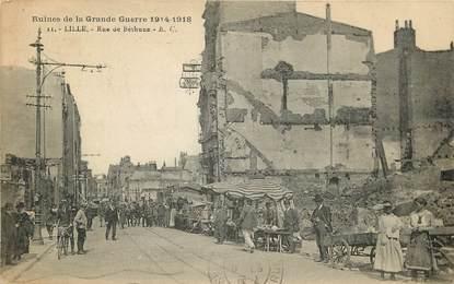"""CPA FRANCE 59 """"Lille, rue de Béthune, guerre de 1914"""""""
