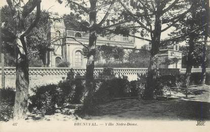 """/ CPA FRANCE 76 """"Bruneval, villa Notre Dame"""""""