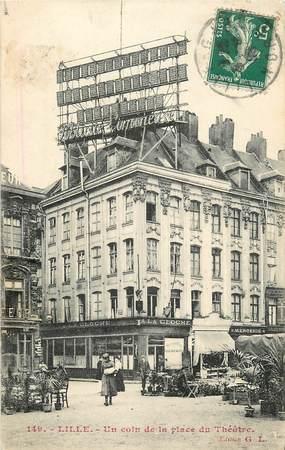 """CPA FRANCE 59 """"Lille, la place du théâtre"""""""