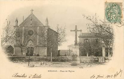 """CPA FRANCE 13 """"Miramas, la place de l'Eglise"""""""