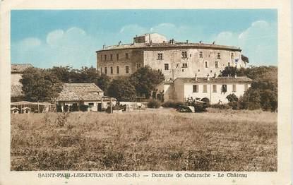 """CPA FRANCE 13 """"Saint Paul lez Durance, Domaine de Cadarache, le chateau"""""""