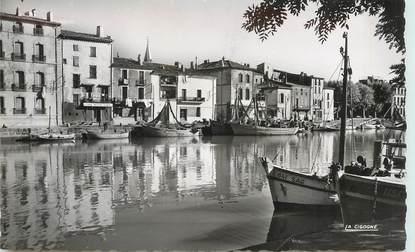"CPSM FRANCE 34 ""Agde, vue sur l'Hérault"""
