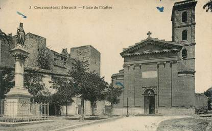 "CPA FRANCE 34 ""Cournontéral, place de l'Eglise"""