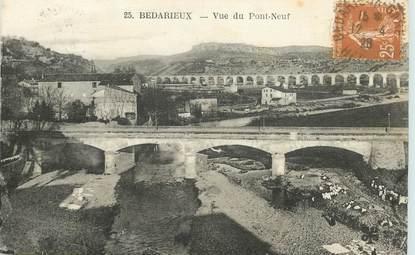 """CPA FRANCE 34 """"Bedarieux, vue du Pont Neuf"""""""