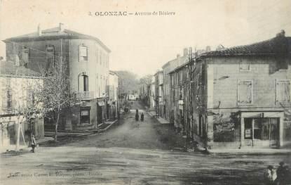 """CPA FRANCE 34 """"Olonzac, Avenue de Béziers"""""""