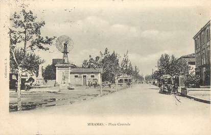 """CPA FRANCE 13 """"Miramas, place centrale"""""""