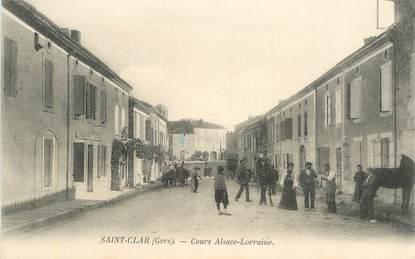 "CPA FRANCE 32 ""Saint Clar, Cours Alsace Lorraine"""