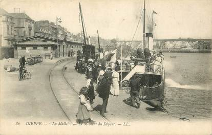 "CPA FRANCE 76 ""Dieppe, La Malle"""