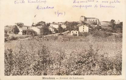 """CPA FRANCE 32 """"Miradoux, avenue de Lectoure"""""""
