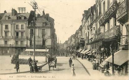 """CPA FRANCE 76 """"Dieppe, la Grande Rue"""""""