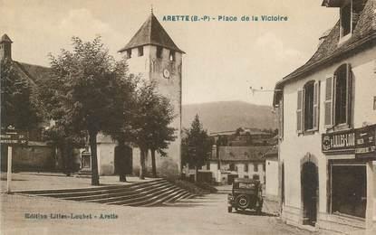 """CPA FRANCE 64 """"Arette, place de la victoire"""""""