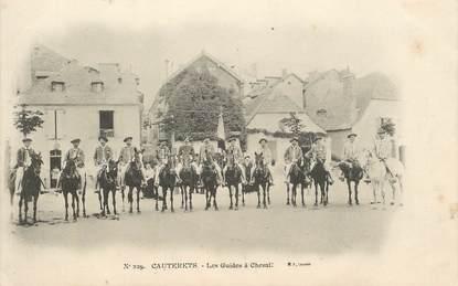 """CPA FRANCE 65 """"Cauterets, les guides  à cheval"""""""