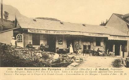 "CPA FRANCE 65 ""Gavarnie, Café restaurant des Pyrénées, Pr. J. Gabail"""