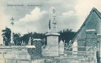 """/ CPA FRANCE 27 """"Fouqueville, le monument"""""""