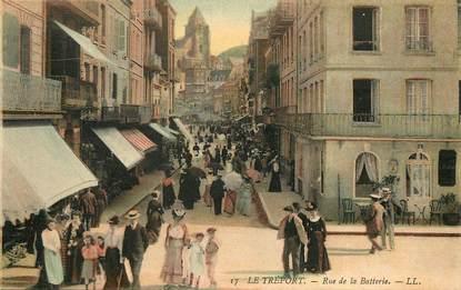 """CPA FRANCE 76 """"Le Tréport, rue de la Batterie"""""""