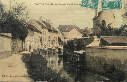 "/ CPA FRANCE 77 ""Crécy en Brie, Brasset du Morin"""