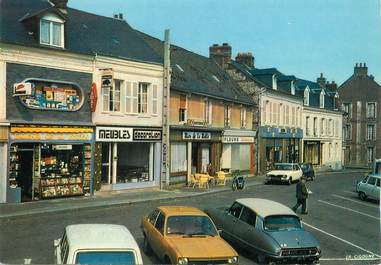 "/ CPSM FRANCE 76 ""Goderville, place Godard des Vaux """