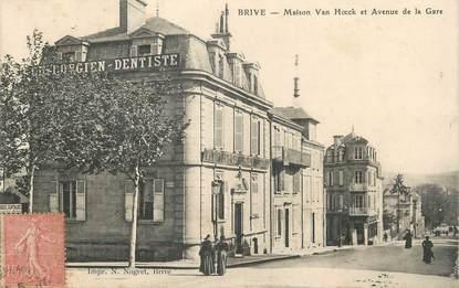 """/ CPA FRANCE 19 """"Brive, maison Van Hoeck et av de la gare"""""""
