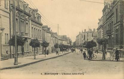 """CPA FRANCE 03 """"Montluçon, avenue Jules Ferry"""""""