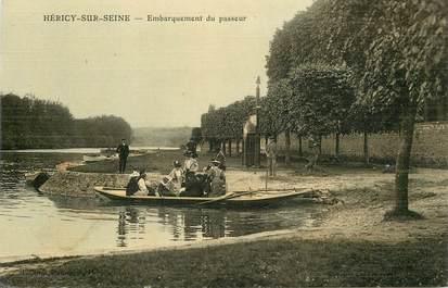 """CPA FRANCE 77 """"Héricy sur Seine, embarquement du passeur"""""""