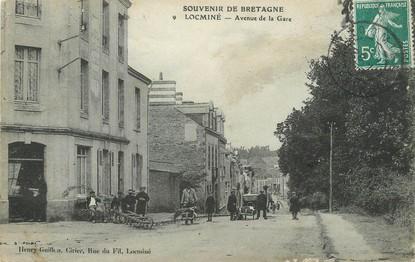 """/ CPA FRANCE 56 """"Locminé, av de la gare"""""""
