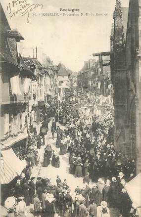 """/ CPA FRANCE 56 """"Josselin, procession ND du Roncier"""""""
