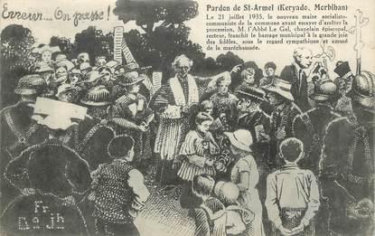 "/ CPA FRANCE 56 ""Keryado, pardon de Saint Armel"""