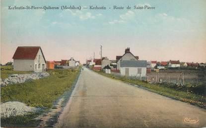 """/ CPA FRANCE 56 """"Kerhostin Saint Pierre Quiberon, route de Saint Pierre"""""""